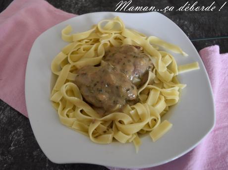 Joues de porc à la sauce moutardée