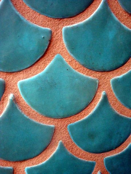 couleur terracotta écaille poisson orange bleu blog déco clem around the corner