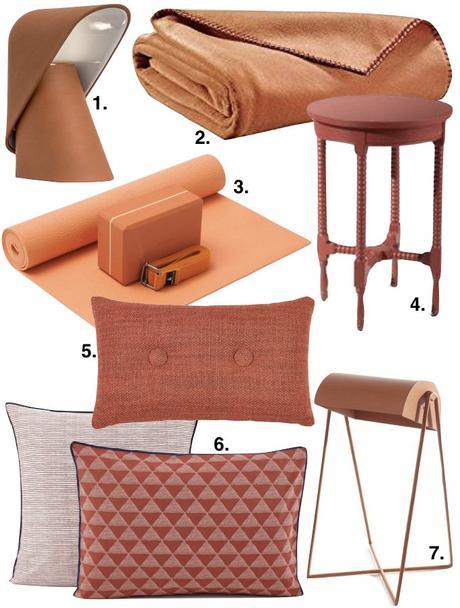 couleur terracotta coussin chambre à coucher blog déco clem around the corner