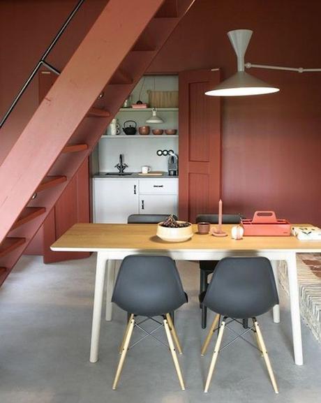couleur terracotta cuisine salle à manger peinture mur blog déco clem around the corner