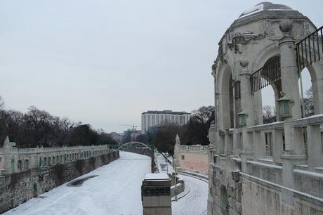 vienne wienfluss stadtpark hiver neige