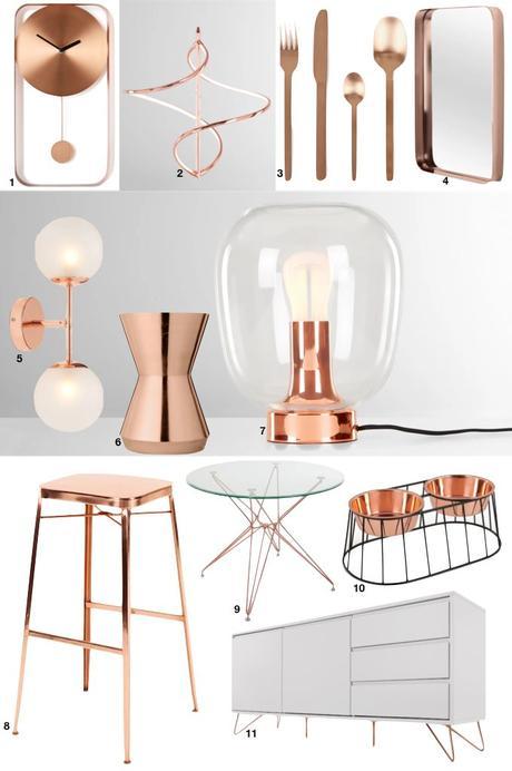soldes d'hiver made 2019 rose gold laiton objets décoration - blog déco - clem around the corner