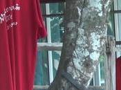 Thaïlande, tissus rouge annexes, pour chasser fantôme veuve