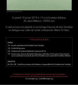 2me édition des journées de la Fondation Léon TUTUNDJIAN à Lyon -(Samedi 19 Janvier 2019 )
