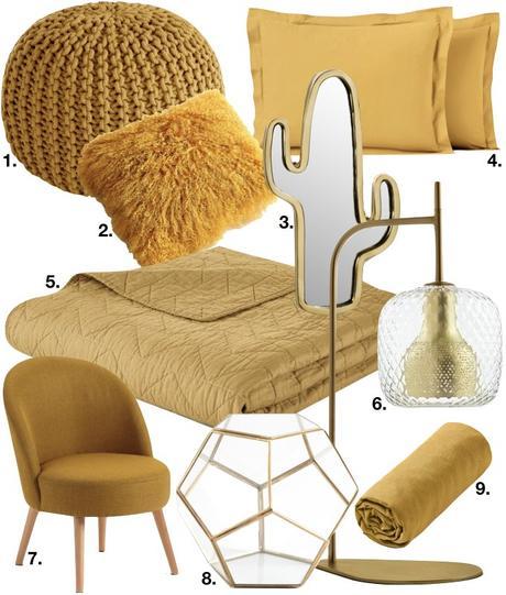 déco couleur jaune moutarde chambre blog déco clem around the corner