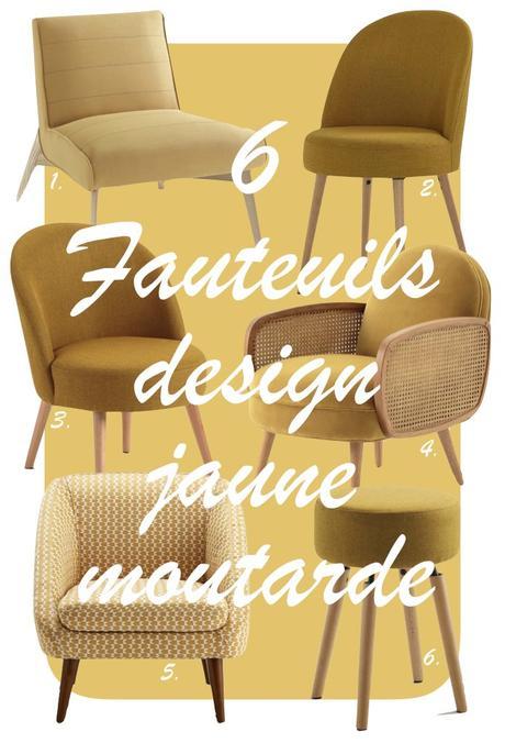 déco couleur jaune moutarde blog shopping liste fauteuils déco clem around the corner