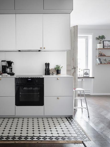 déco en noir et blanc cuisine délimitation blog déco clem around the corner