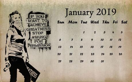 Calendrier janvier 2019 – January 2019 calendar