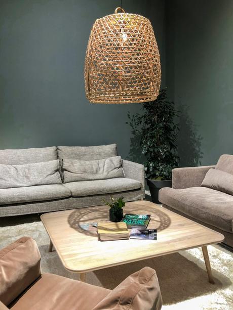 maison et objet janvier 2019 vert kaki lustre bambou canapé - blog déco - clem around the corner