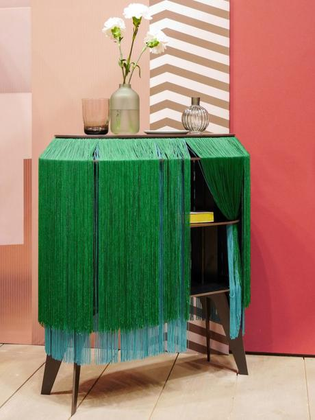 maison et objet janvier 2019 commode franges original vert - blog déco - clem around the corner