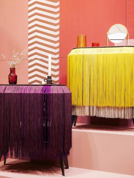 maison et objet janvier 2019 cabinet rangement violet jaune vintage - blog déco - clem around the corner
