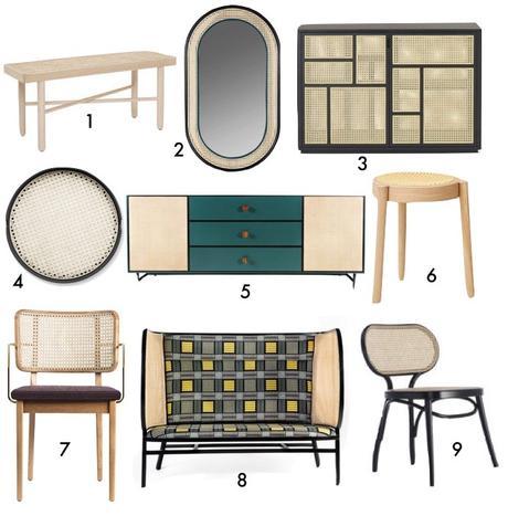 tendance decoration cannage miroir chaise banc buffet blog déco Clem Aorund The Corner
