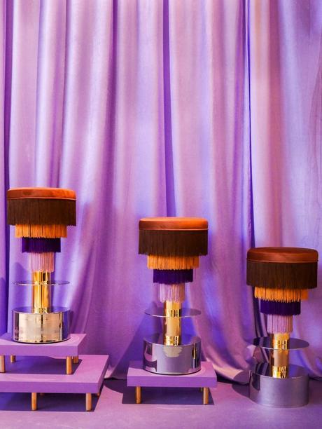 maison et objet janvier 2019 violet velours franges vintage - blog déco - clem around the corner