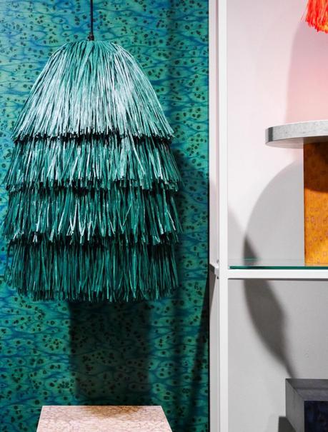 maison et objet janvier 2019 franges raphia bleu canard - blog déco - clem around the corner