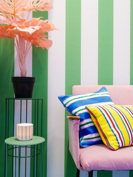 maison et objet janvier 2019 rayures blanc vert couleurs - blog déco - clem around the corner