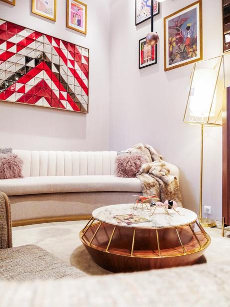 maison et objet janvier 2019 salon canapé velours rétro vintage - blog déco - clem around the corner