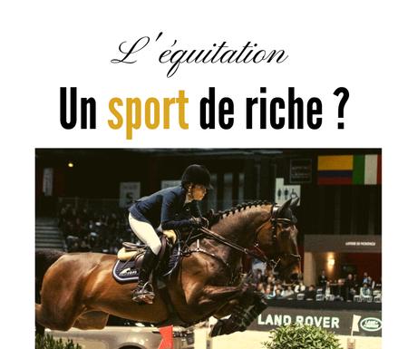 L'équitation et l'argent ?