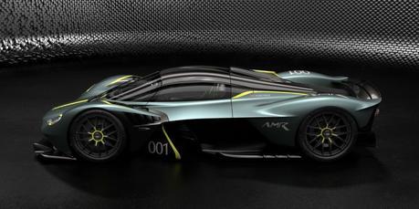Aston Martin Valkyrie: à la configuration