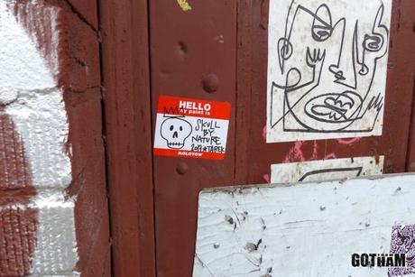 Stickers à New York, octobre 2017
