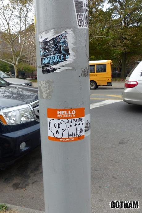 Stickers à New York, octobre 2017