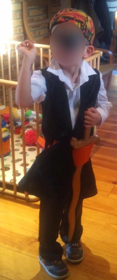Faire soi-même un déguisement de pirate pour enfant