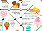 Insolite: carte métro Londres avec tendances culinaires