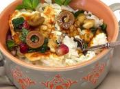 menthe feta, sauce grenade olives