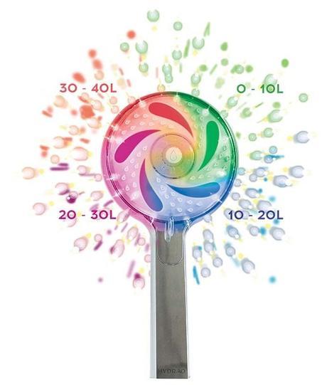 réduire sa consommation d'eau douche pommeau change de couleur - blog déco - clem around the corner