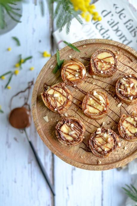 Makis de crêpes banane caramel / banane chocolat