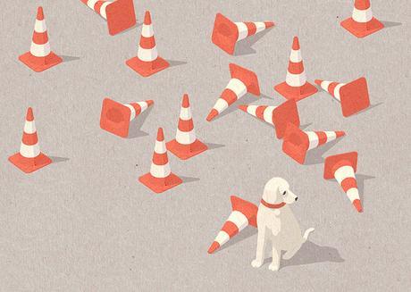 Minimalist illustrations by Justine Shirin