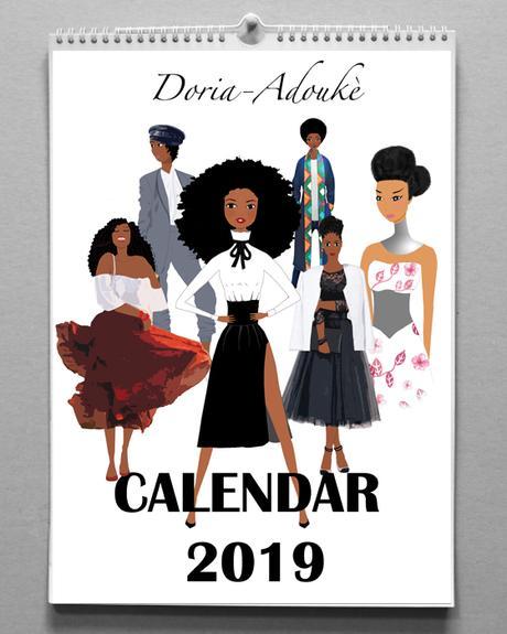 Calendrier Femme Noire 2019
