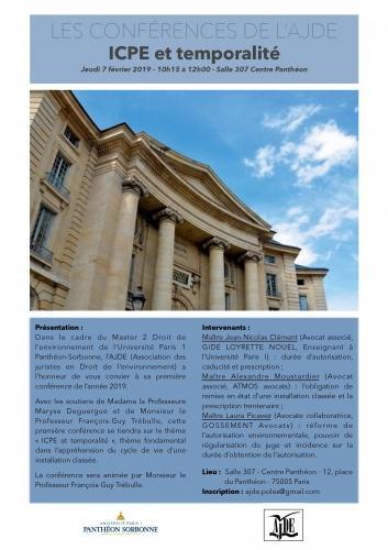 [Agenda] 7 février 2019 : Me Laura Picavez intervient sur la réforme de l'autorisation environnementale lors du colloque de l'Association des juristes en droit de l'environnement de l'Université Paris I