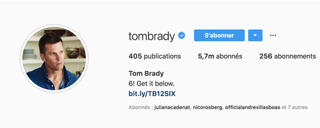 Notre «InStargram» de la semaine: Tom Brady