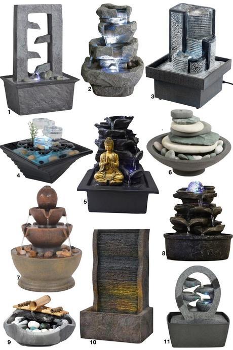 fontaine intérieur Aménagement chambre à coucher Feng Shui - blog deco - clem around the corner
