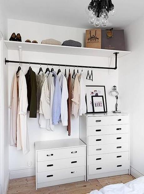 aménagement chambre à coucher feng shui chambre dressing organisé blanc -blog déco- clem around the corner