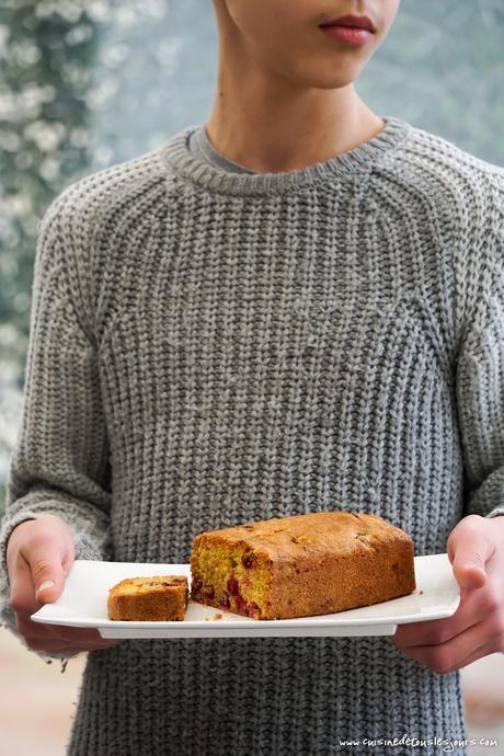 Gâteau à l'orange et aux cranberries [recette]