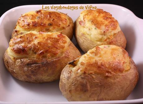 Pommes de terre farcies au Maroilles et lardons