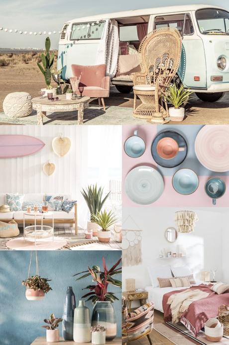 décoration bohème acidulé mariage nouveau catalogue Maisons du Monde 2019 - blog déco - clem around the corner