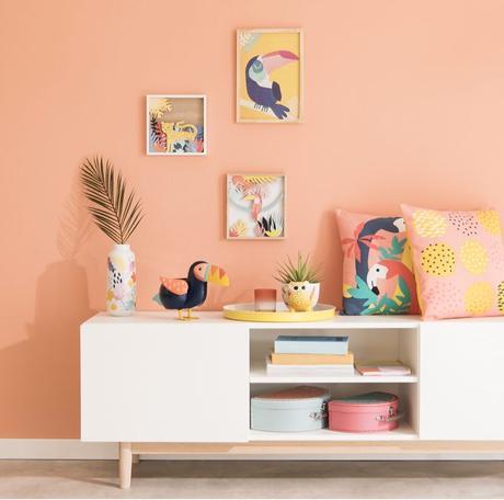 mur orange scandinave nouveau catalogue Maisons du Monde 2019 - blog déco - clem around the corner
