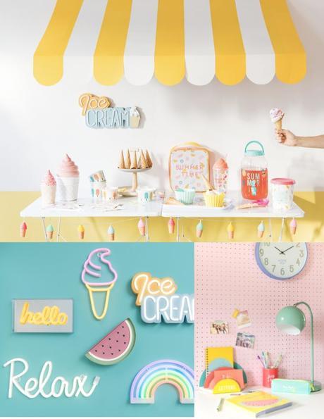 glace hello néon lampe nouveau catalogue Maisons du Monde 2019 - blog déco - clem around the corner