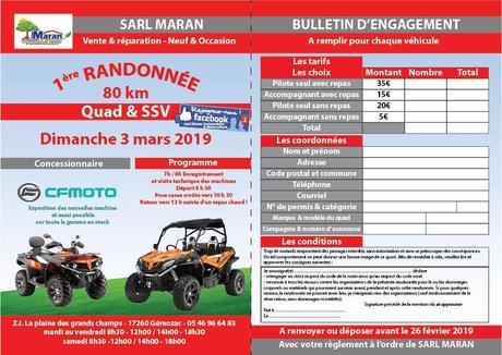 Rando quad et SSV à Gémozac (17), le 3 mars 2019 du Garage Maran