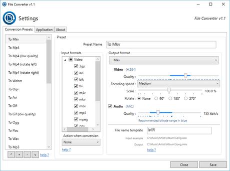 File Converter - un convertisseur intégré à l'explorateur de fichiers