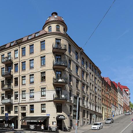 appartement suédois extérieur briques marrons - blog déco - clem around the corner