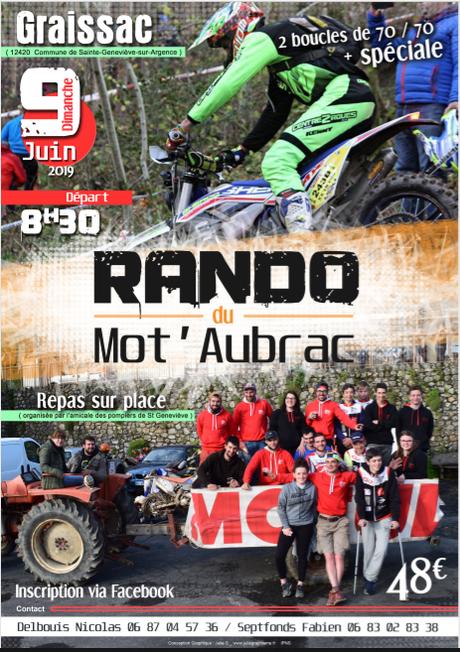 Rando moto du Mot 'Aubrac à Graissac (12), le 9 juin 2019