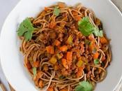 Spaghettis bolognaise végétale vegan)