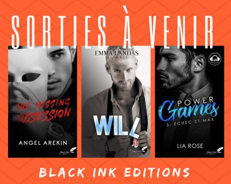 Les sorties à venir chez Black Ink Editions