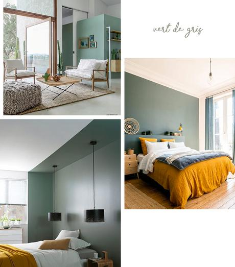 déco murale vert de gris