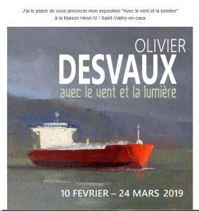 Exposition Olivier  DESVAUX   » Avec le vent et la lumière »  10 Février au 24 Mars 2019