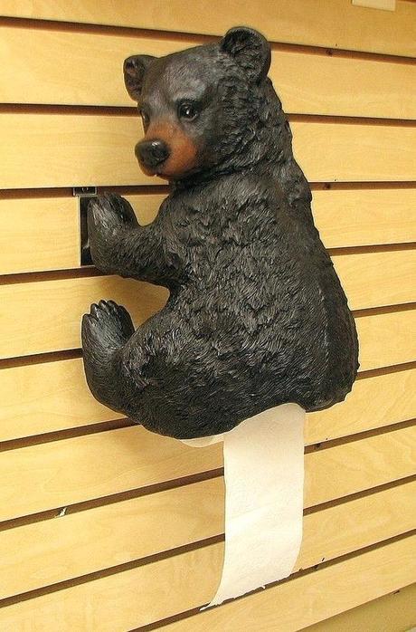 unique toilet paper holder black bear toilet paper holder cool toilet paper holder
