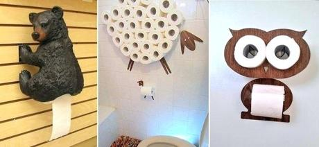 unique toilet paper holder came with your house or want to go all in to coordinate everything your newly remodeled bathroom a list of creative toilet paper holders cool toilet paper holder
